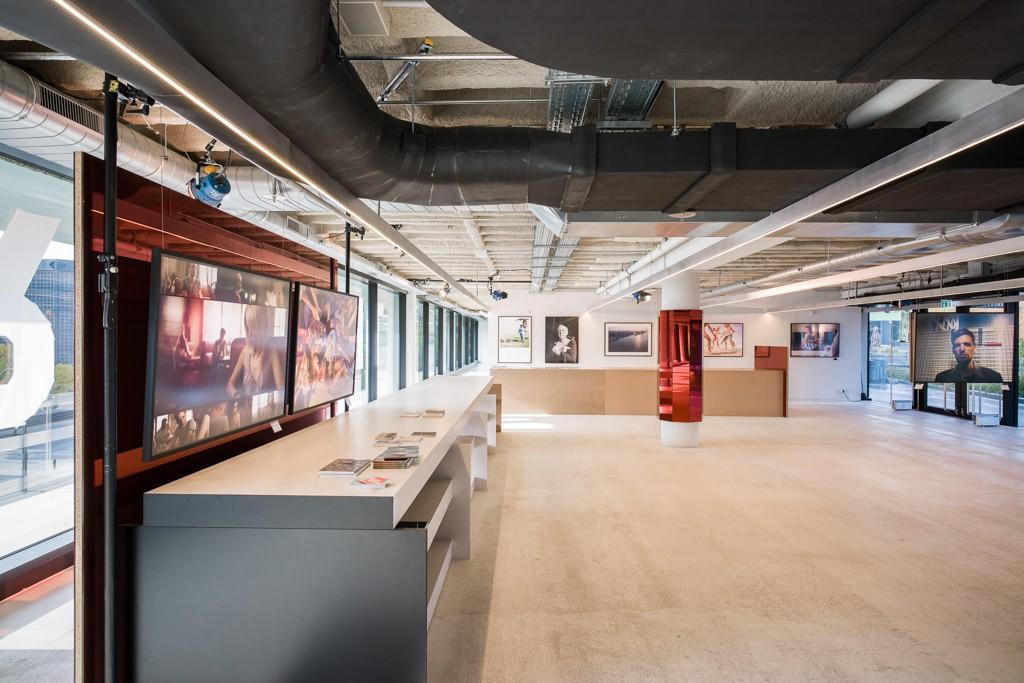 Ausstellungsräume im BIKINI Berlin, Aufnahme aus dem BFF-Archiv