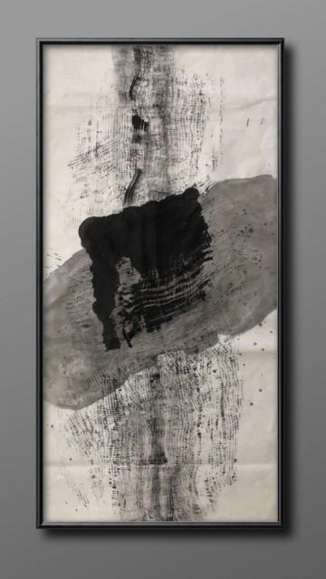 无物不伏1,2019,纸本绘画,133 x 66cm