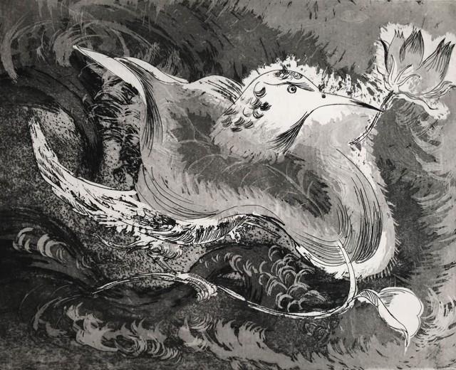 浮,2017,铜版画,38 x 27cm