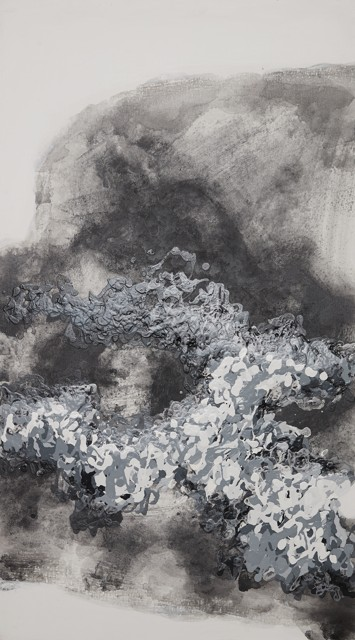 雨后叠影,布上丙烯,2016,50cmx90cm
