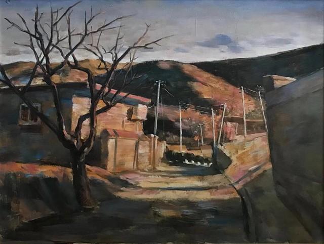 寂静乡野,2018,布面油画,80×65cm